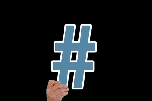 hashtags en redes sociales